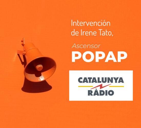 Intervención Irene Tato, BOLSETA en Ascensor Popap de Catalunya Ràdio